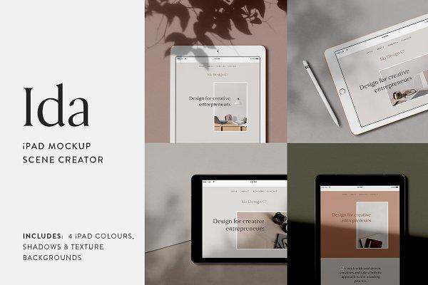 Product Mockups: Moyo Studio - Ida - iPad Mockup Scene Creator