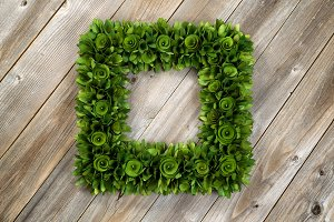 Green Box Shaped Wreath