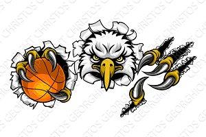 Eagle Basketball Cartoon Mascot