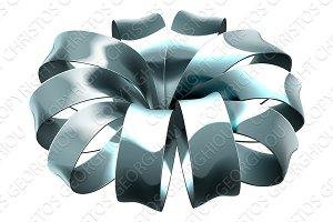 Gift Ribbon Silver Bow Wrap