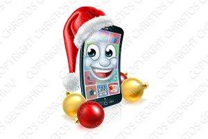 Christmas Mobile Cell Phone Mascot