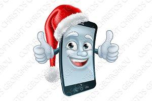 Mobile Christmas Cell Phone Mascot