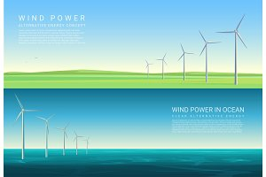 Wind energy power concepts