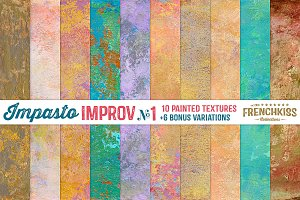 Impasto Improv No.1 Painted Textures