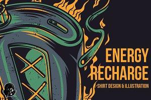 Energy Recharge Illustration