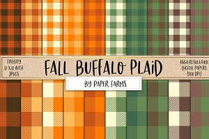 Fall buffalo plaid backgrounds