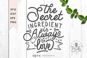The secret ingredient SVG DXF EPS 2