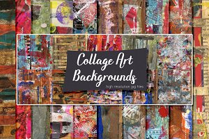 Collage Art Backgrounds