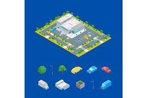 Supermarket or Shop Building Concept