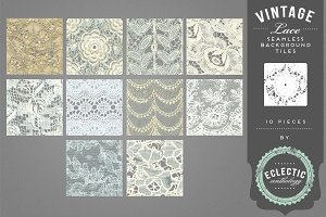 Vintage Lace Seamless Backgrounds