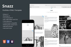 Snazz - Portfolio HTML5 Template