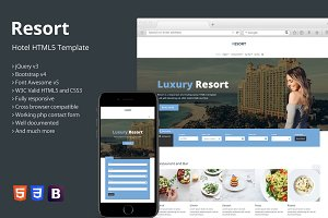 Resort - Hotel HTML5 Template