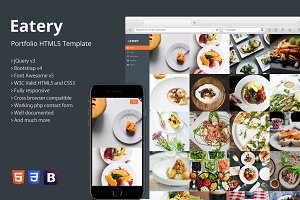 Eatery - Portfolio HTML5 Template