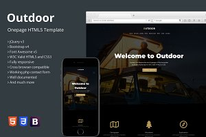 Outdoor - Onepage HTML5 Template