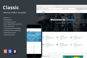 Classic - Minimal HTML5 Template