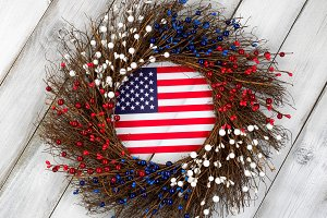 Wreath for celebrating the 4th