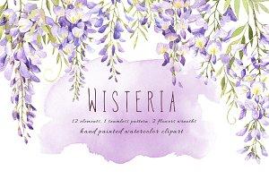 Wisteria watercolor set