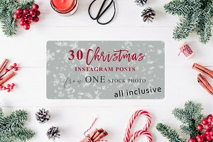 Christmas Card+30 IG Posts (+PSD)