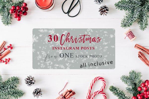 Christmas Card+30 IG Posts (+PSD)
