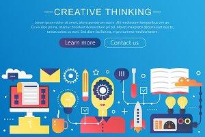 Creative thinking, big idea concept