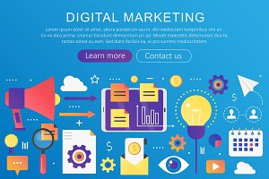 Digital marketing, SEO concept