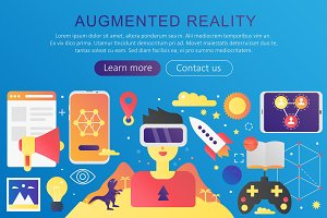 Virtual, Augmented Reality concept