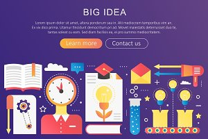 Big Idea, creative thinking concept