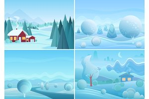Fantasy winter landscapes collection