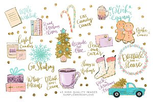Holiday Bucket List Clip art