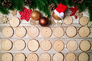 Christmas advent calendar. Christmas