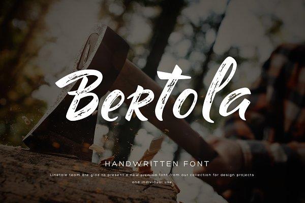 Bertola font
