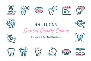 Dental Doodle Colors