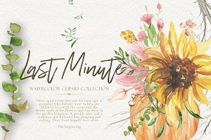 Last Minute Watercolor Fall Graphics
