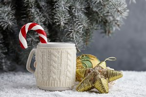 Christmas toys and winter cup