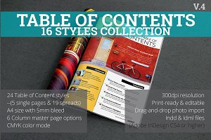Table of Contents Style Collection