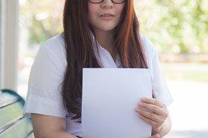 Student wearing glasses
