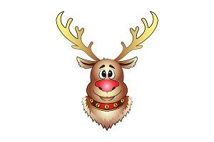 Santa's Deer head of  Christmas deer