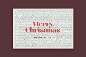 Classic Christmas Postcard