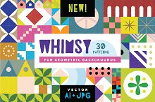 Whimsy Geometric Pattern Bundle by  in Patterns