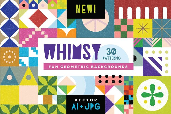 Patterns: Anugraha Design - Whimsy Geometric Pattern Bundle