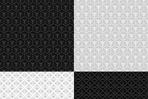 Seamless geometric paper pattern