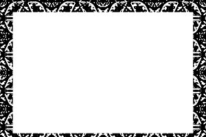 Blank Landscape Frame with Black and