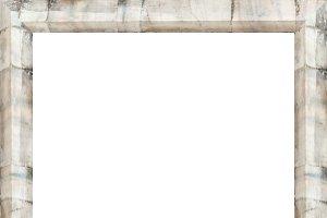 Blank Portrait Frame with Stone Colu