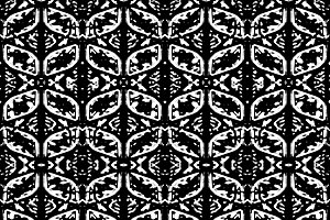 High Contrast Black and White Ornate