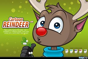 Cartoon Reindeer - Set 1