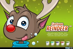Cartoon Reindeer - Set 2