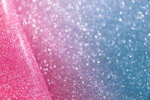 Blurred neon pink & blue blue drop