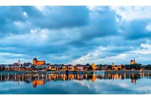 Skyline of Torun old town in Poland