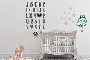 Nursery ABC's Cutting File