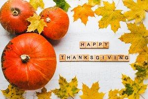 Bright Thanksgiving greeting card